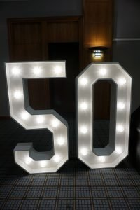 Giant 50 LED Numbers